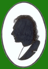 Miniature silhouette of Ian Pethers as used on his business card printed by www.busycards.com